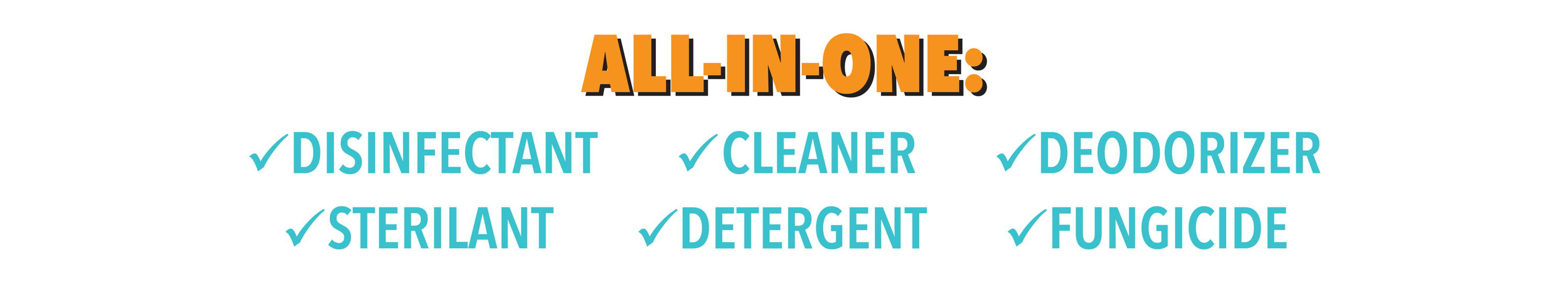 SteriCide all in one: disinfectant, sterilant, cleaner, detergent, deodorizer, fungicide