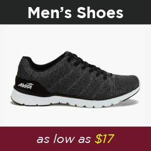 Shop Avia Mens Running, Cross Trainers, Walking Sneakers and Slip Resistant Shoes at 30% off. Perfect gift for family and friends for the holiday at insanely cheap prices! Black Holiday special deals, 30% off