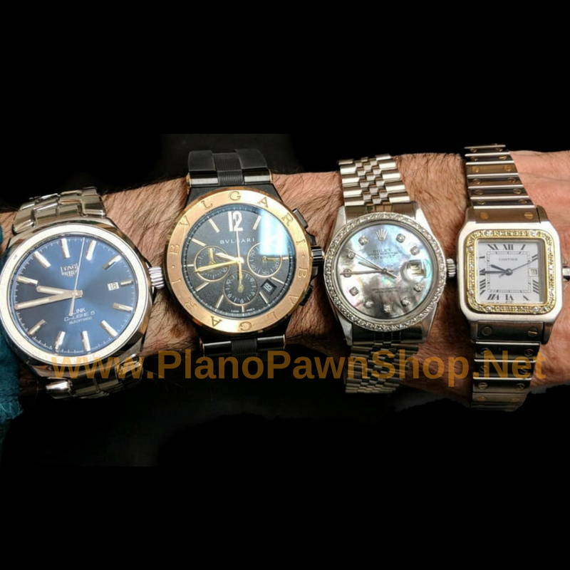 luxury swiss watches like rolex & cartier from best pawn shop in plano