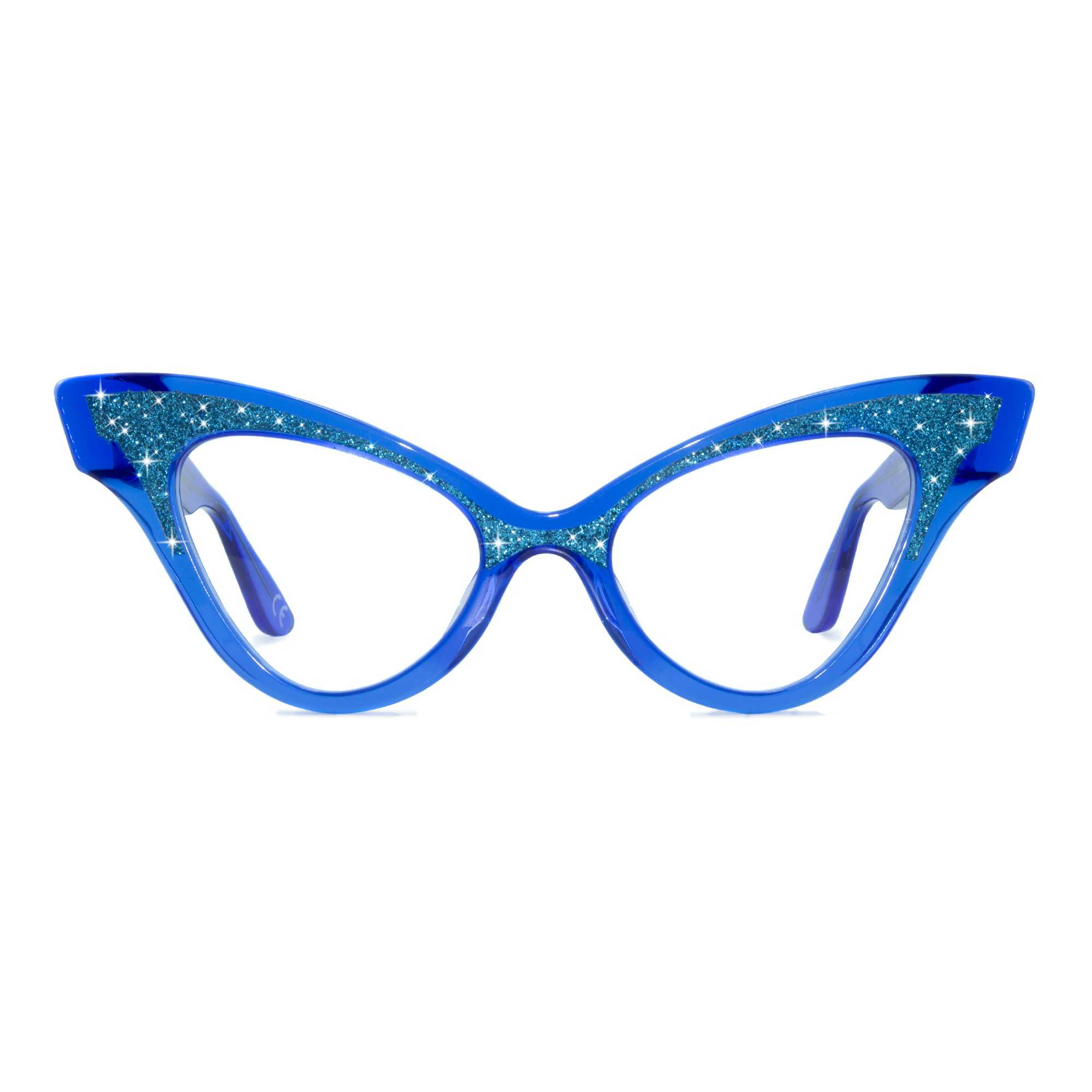 Joiuss glimmer clear blue sparkle glasses