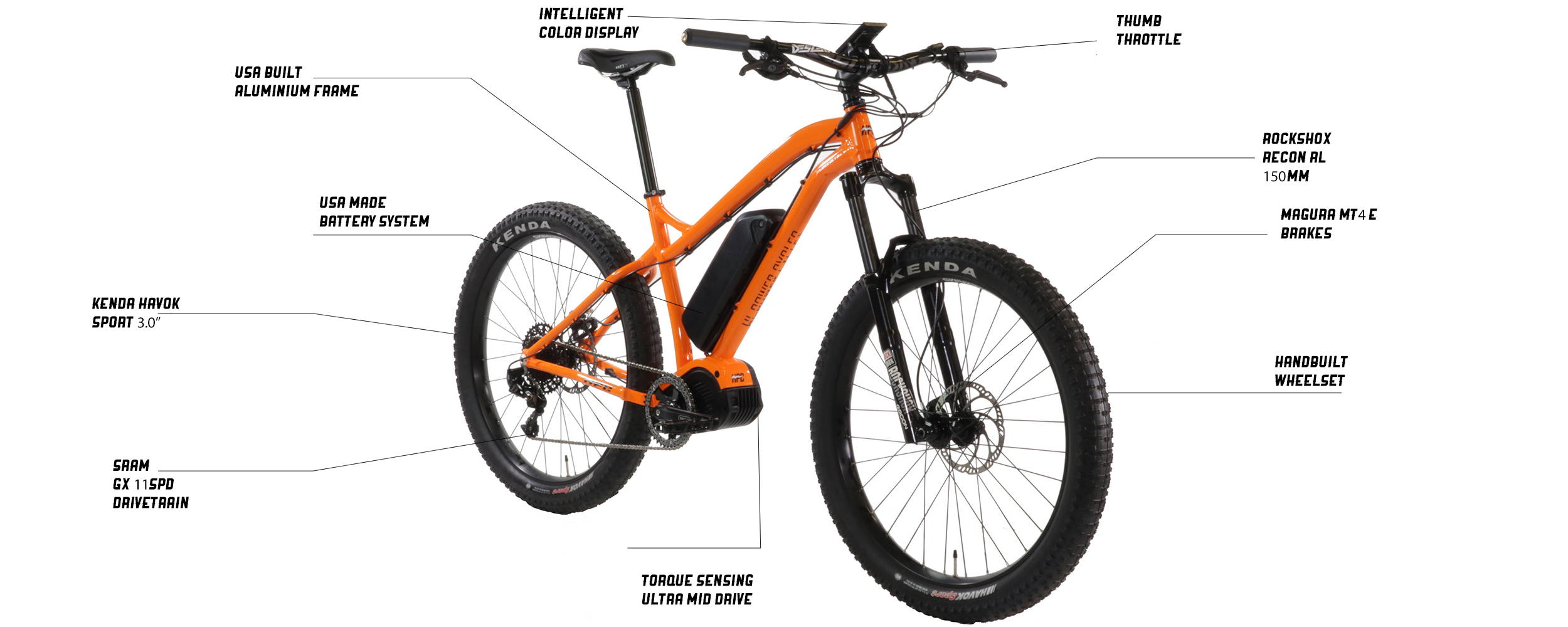 Scout High Performance Hard Tail Electric Bike   Hi Power Cycles
