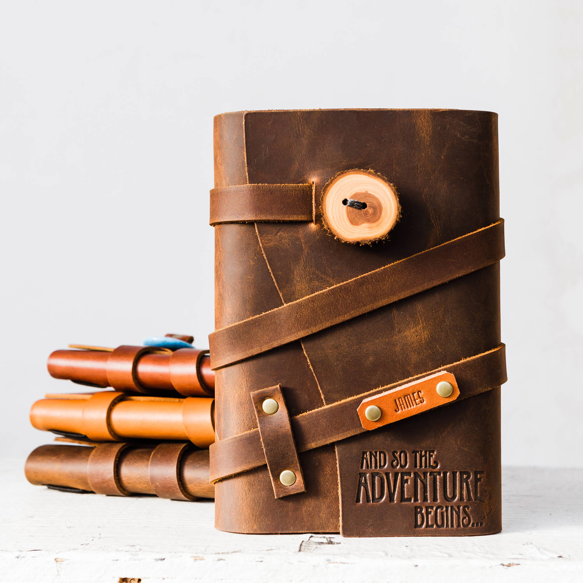handmade leather journal by portland leather goods