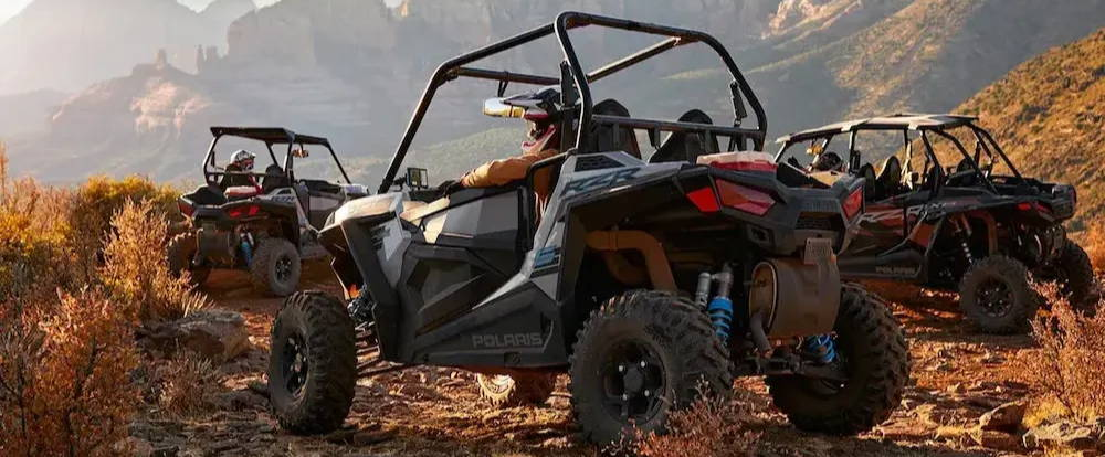 UTV off-roading in canyon trails with Tread Powersport Navigator