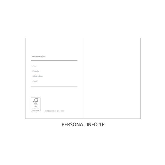 Personal info - O-CHECK Eco-friendly 2020 A6 dated daily diary planner
