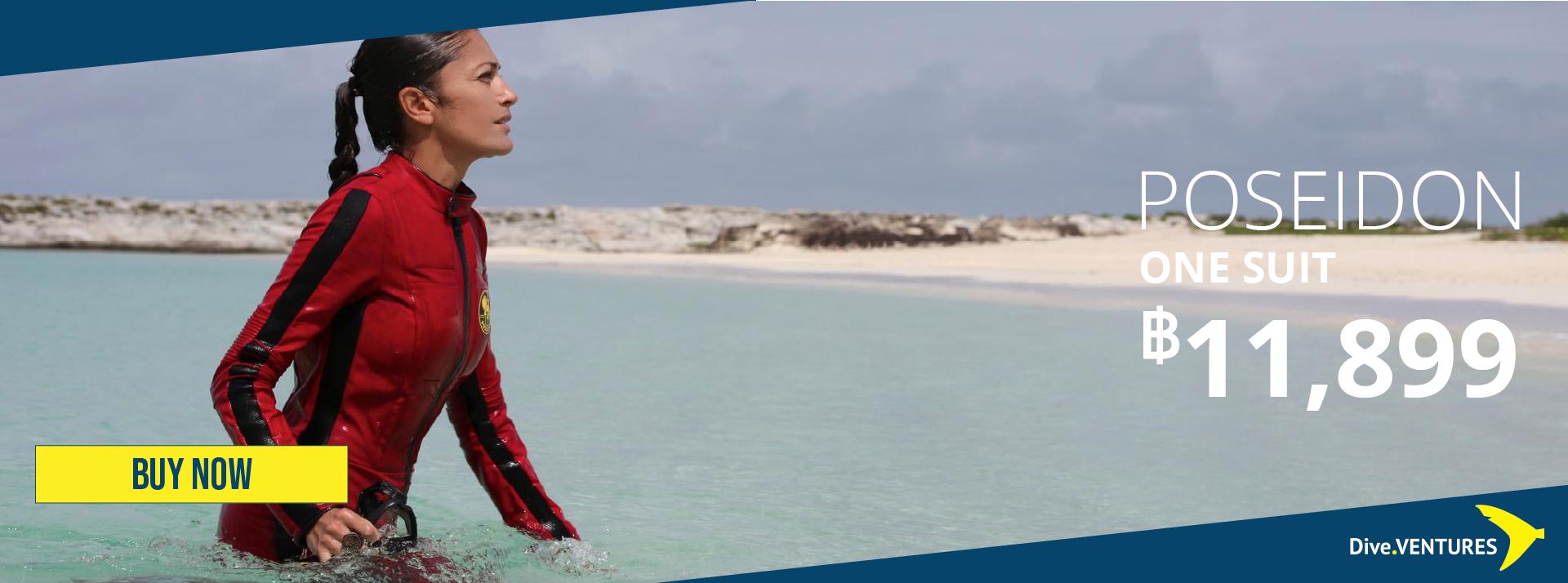 Poseidon One Suit Banner | Dive.VENTURES