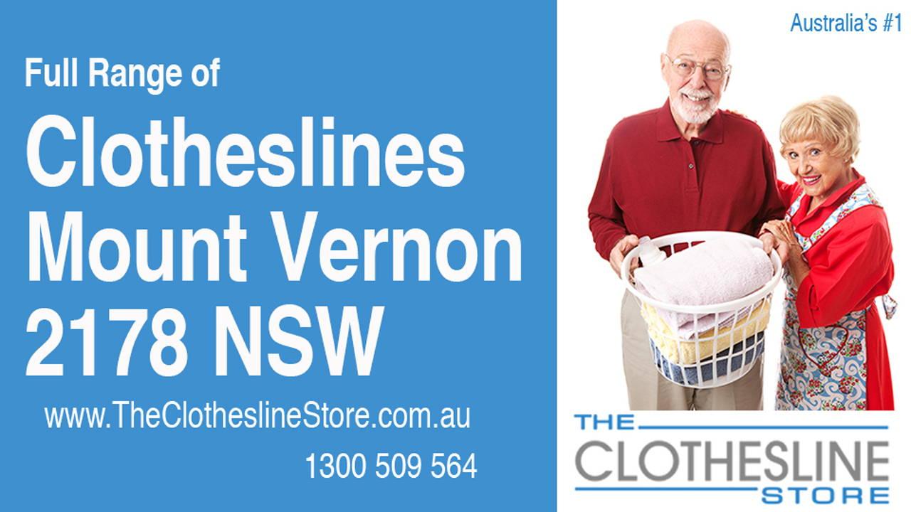 Clotheslines Mount Vernon 2178 NSW