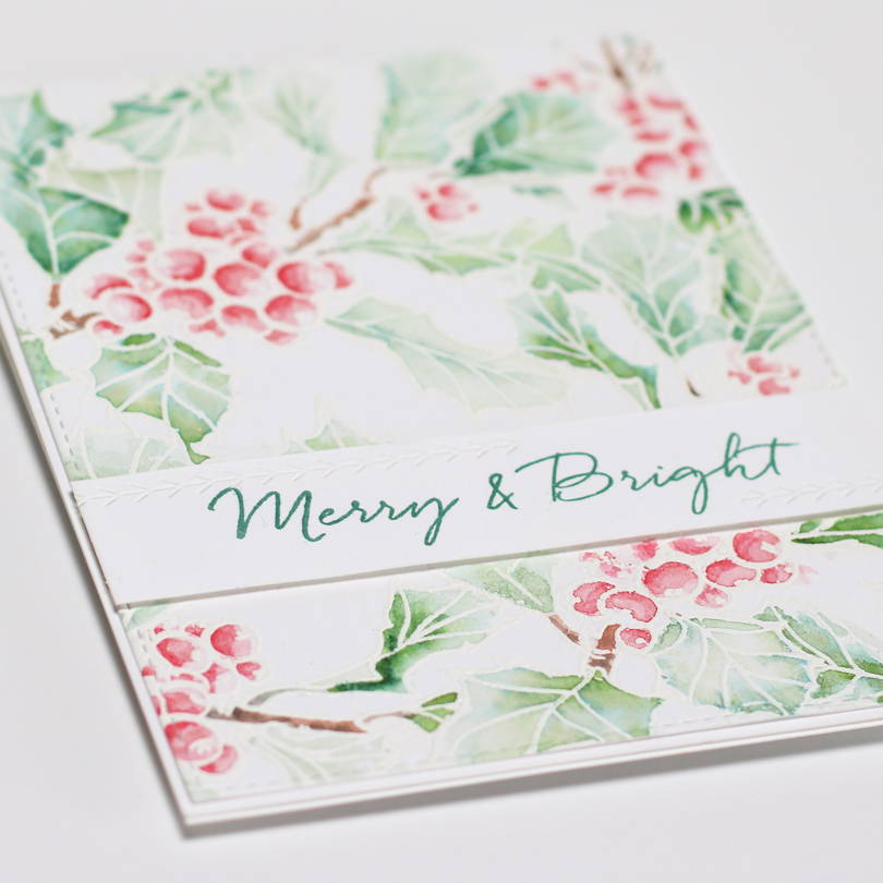 Essentials by Ellen Mondo Holly card closeup