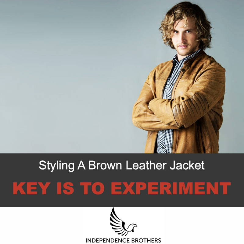 Styling a brown leather jacket