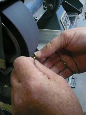 tender co belt brass buckle button polished