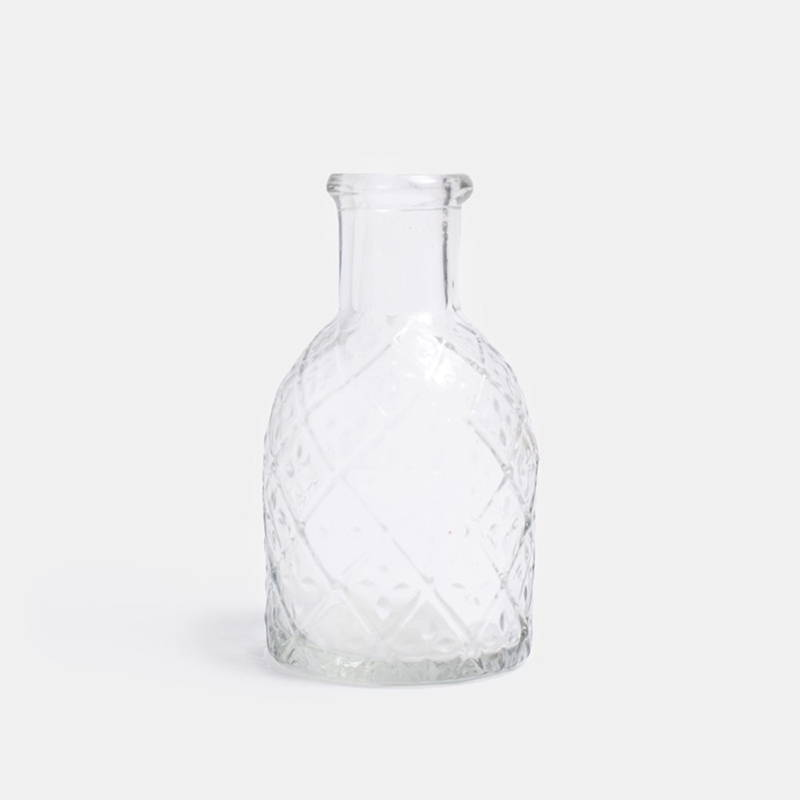 Product photography of Pharmacy Glass Pattern f/Short Candle bottle from The Hambledon