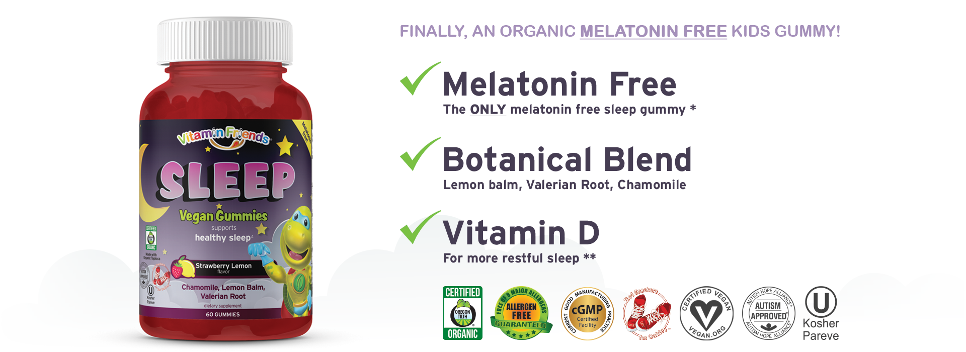 Vitamin Friends Melatonin Free Sleep Gummy