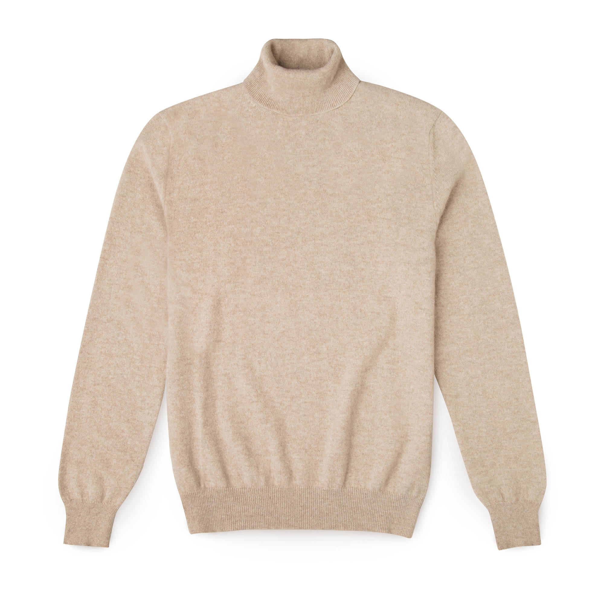 Luca Faloni Camel Beige Roll Neck Made in Italy