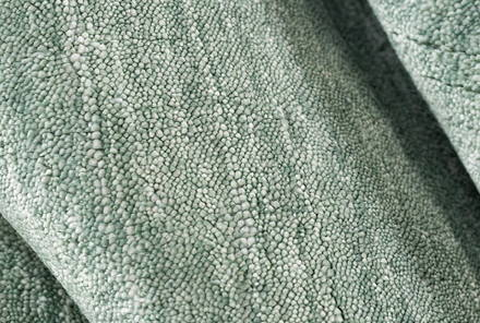 Detail of Solid Handloom Green