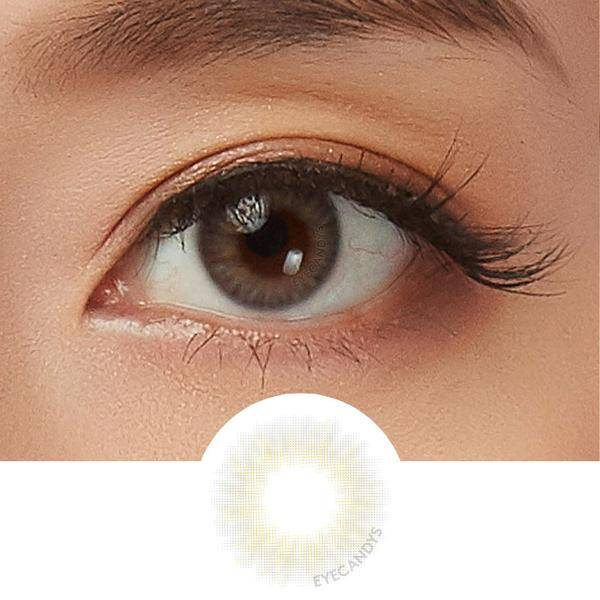 Opal Grey coloured contact lens