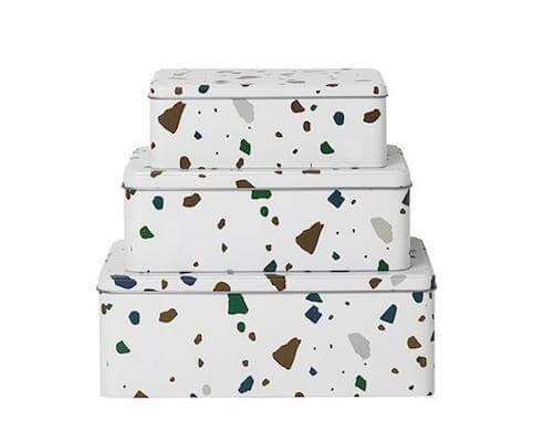 Ferm Living Terrazzo Tin Boxes