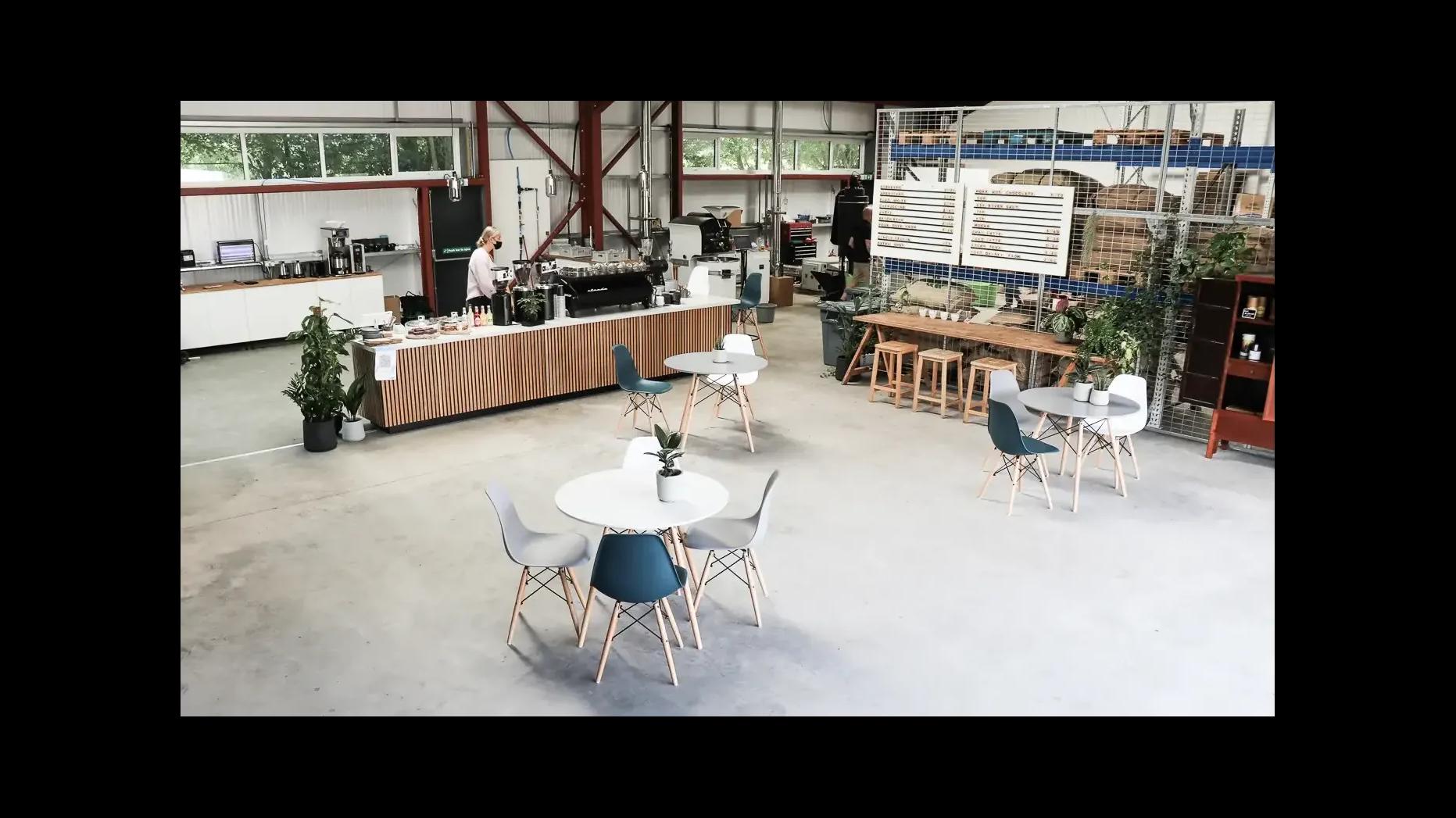 open planned coffee shop