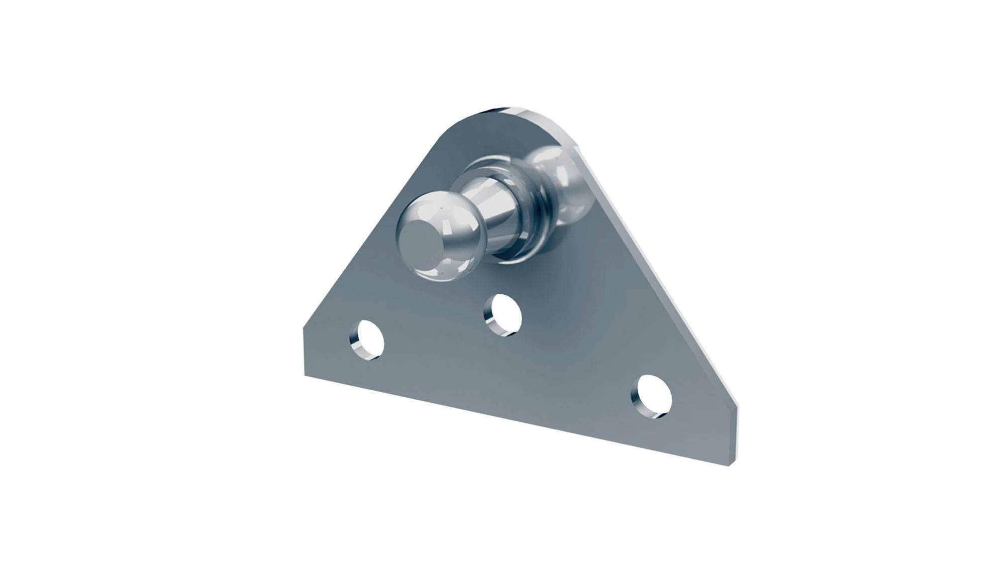 10mm ball stud flat mounting bracket