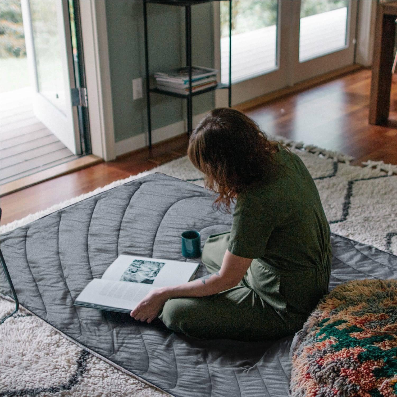 Indoor modern rumpl Sherpa blanket