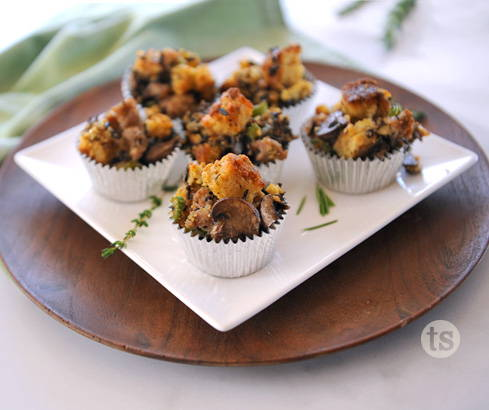 rustic herb stuffing cups