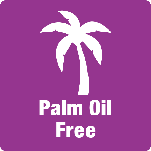 Palm oil free, no palm oil