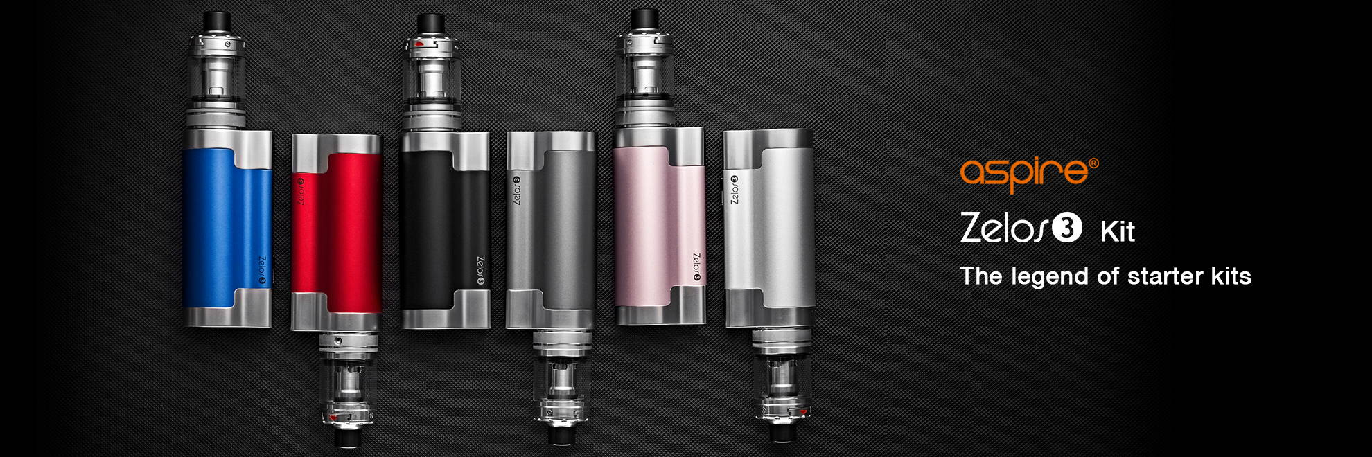 The Aspire Zelos is a legend in starter kit technology, and with the Zelos 3 comes a much bigger battery and the Nautilus 3 tank!