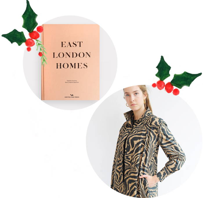 East London Homes book and Ganni Shirt Dress in Tannin