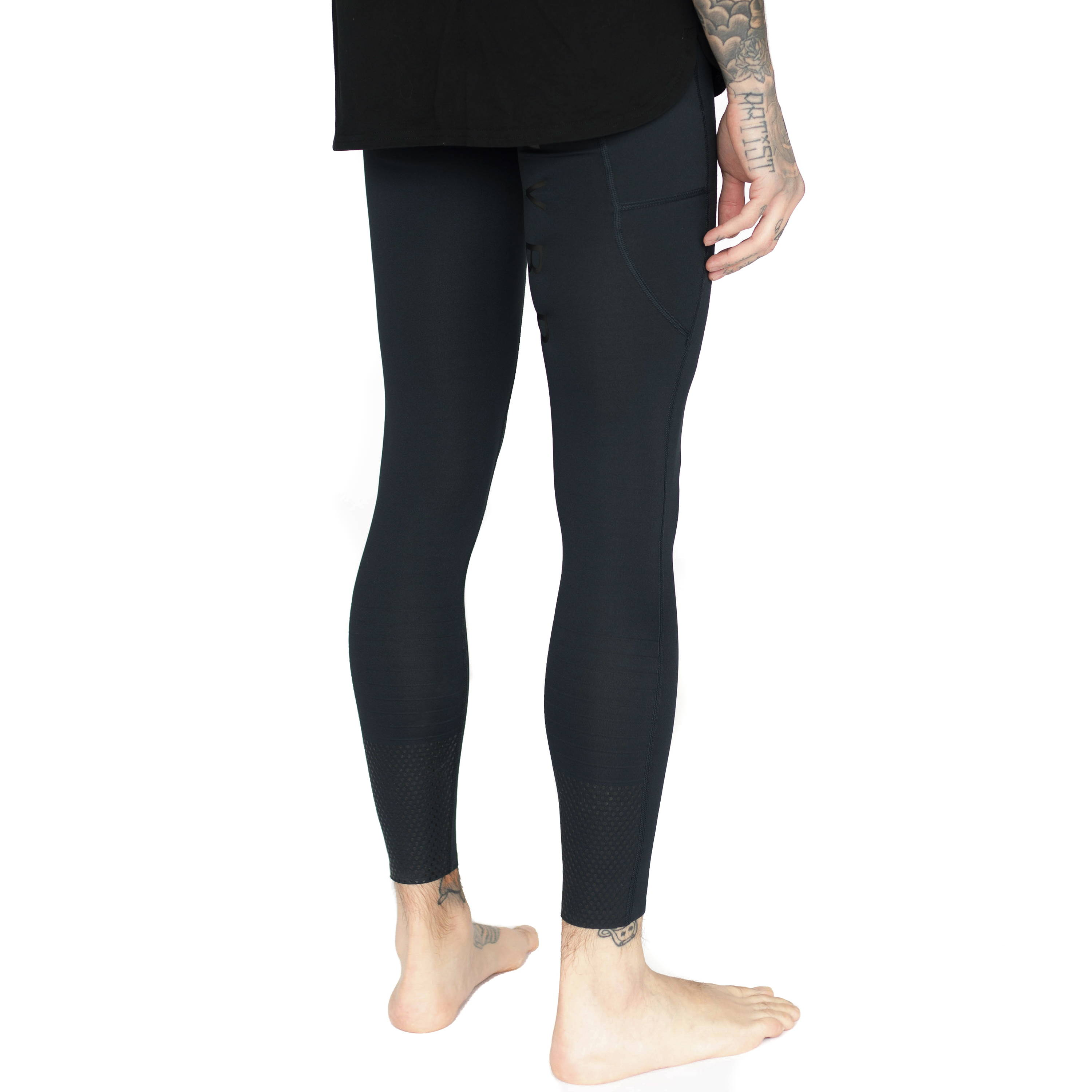Mens-Midnight Black-Compression Tight-2