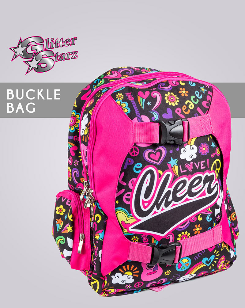 buckle bag glitterstarz dyesub backpack cheer dance