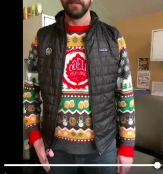 Odell Christmas Sweater with Jacket