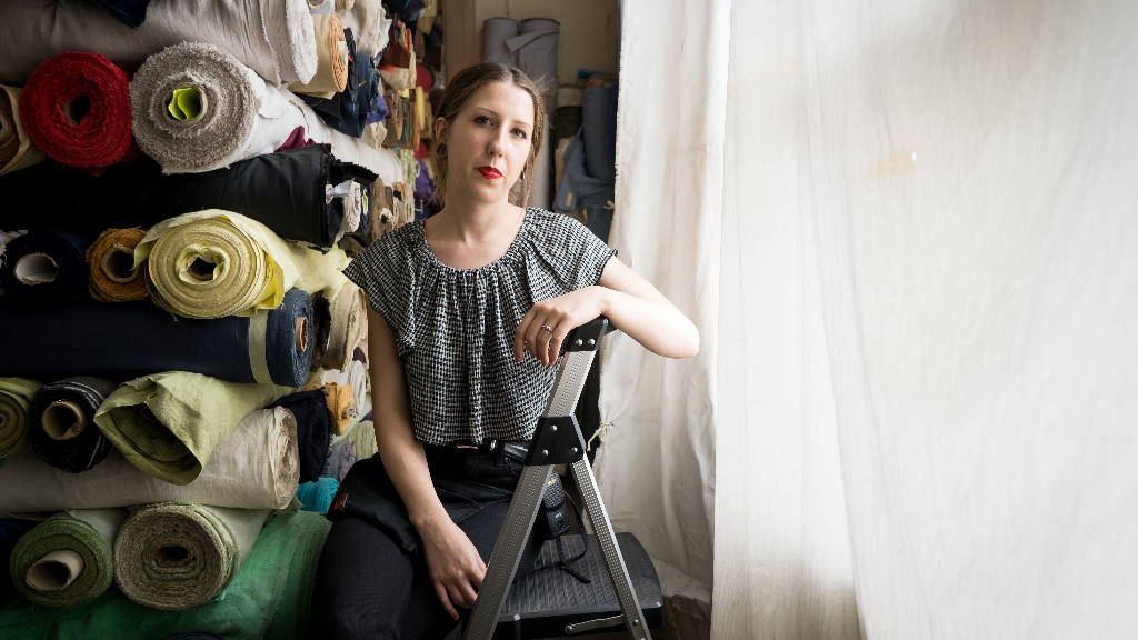 Sarah Torres, a deadstock fabric specialist that works with Bianca Balti Collection
