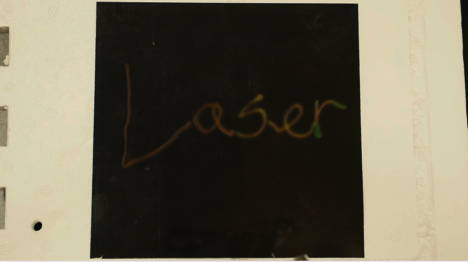 With a red laser you can write not-so-secret messages. Light waves transfer energy.