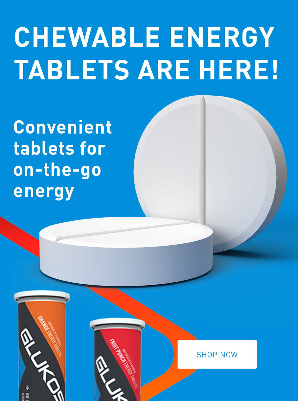 Chewable energy tablets are here! Convenient tablets for on-the-go energy.