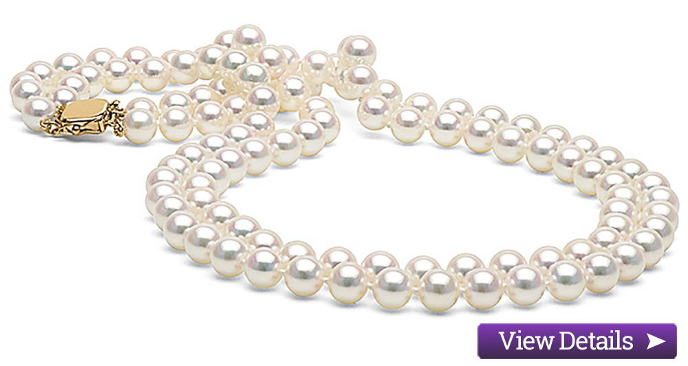 Akoya Pearl Jewelry Styles: Double Strand Pearl Necklaces