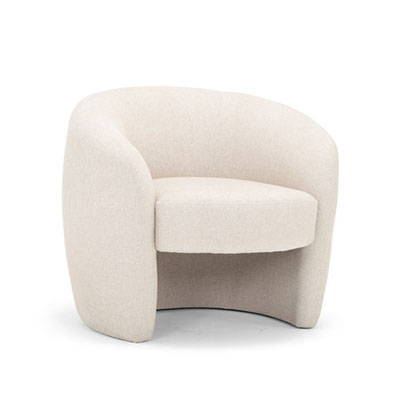 Modern Ivory Lounge Chairs