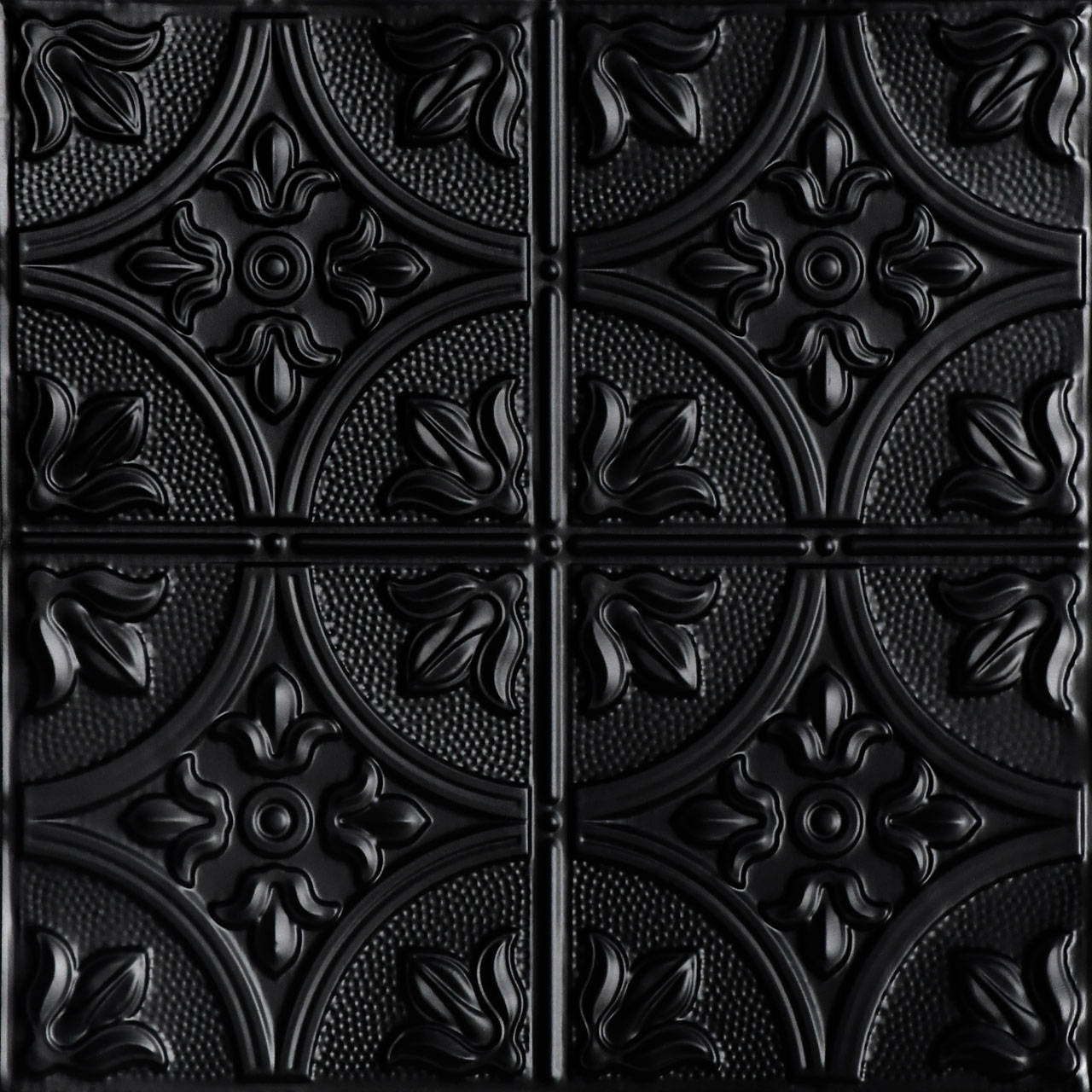 Tiptoe 2 ft x 2 ft Shanko - Wall and Ceiling Patterns - #309 - (Pack of 12) - Black