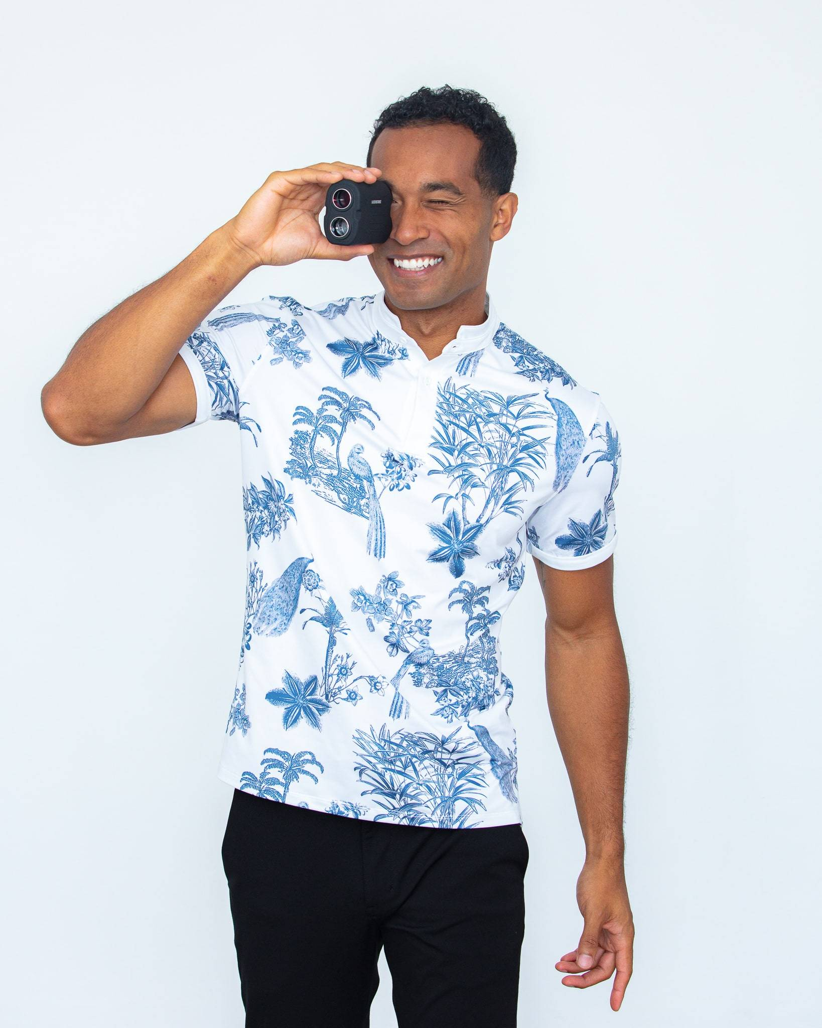 MANTRA Islander Polo - sustainable mens polo made in the USA from repurposed materials