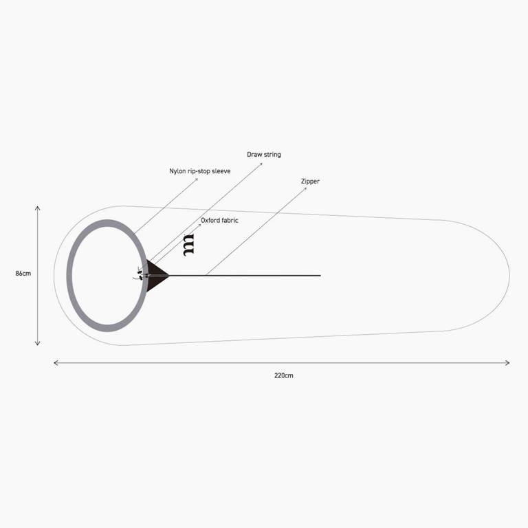 muraco(ムラコ)/タイベック スリーピングバッグプロテクター