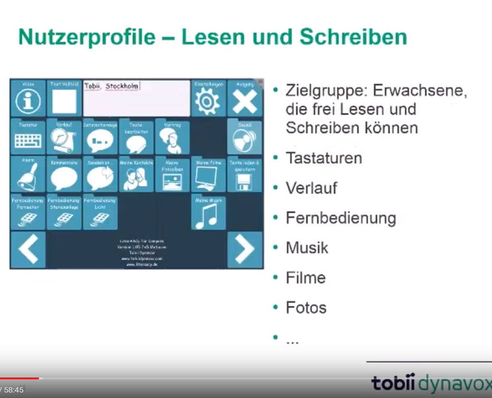 "Video zur UK-Software ""Compass"" von Tobii Dynavox"