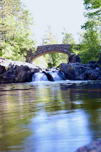Lester Park Bridge and River
