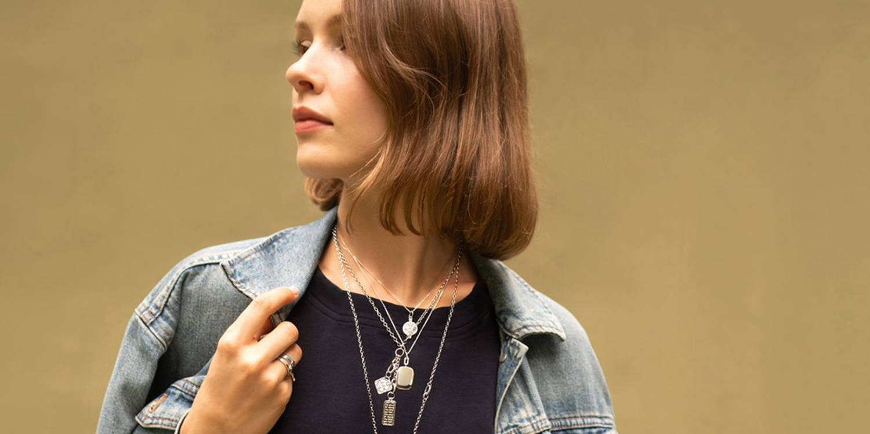 Sterling silver locket necklaces