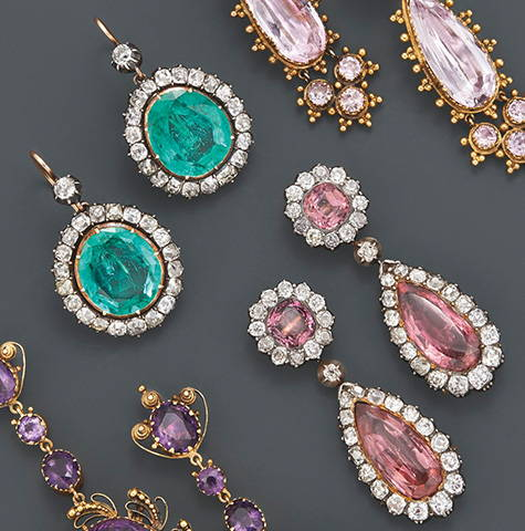Fred Leighton Diamond Earrings