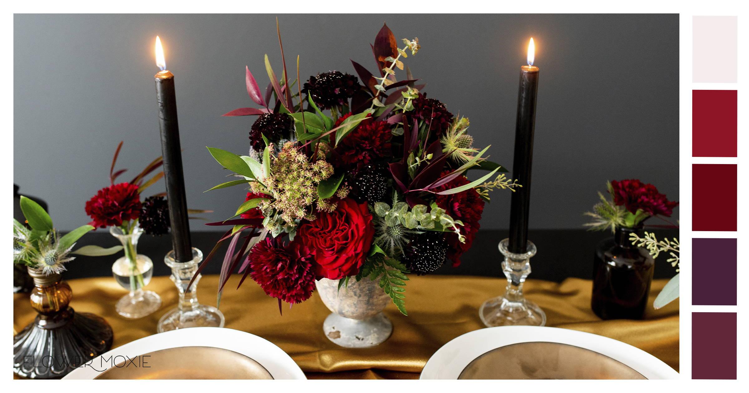 moody scarlet wedding flowers online