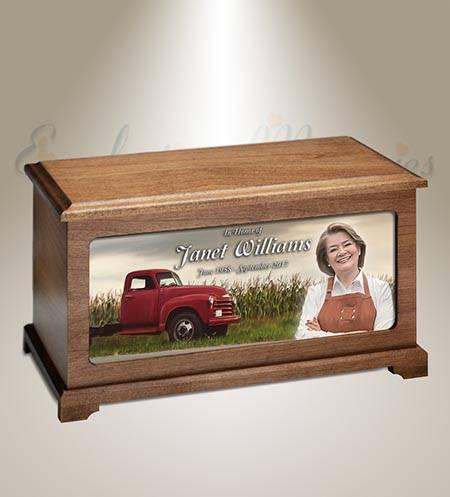 Farmer Memorial Urn For Photo