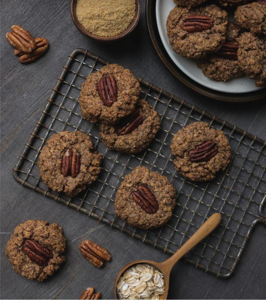 Holiday treats and baking pecan pie cookies recipe