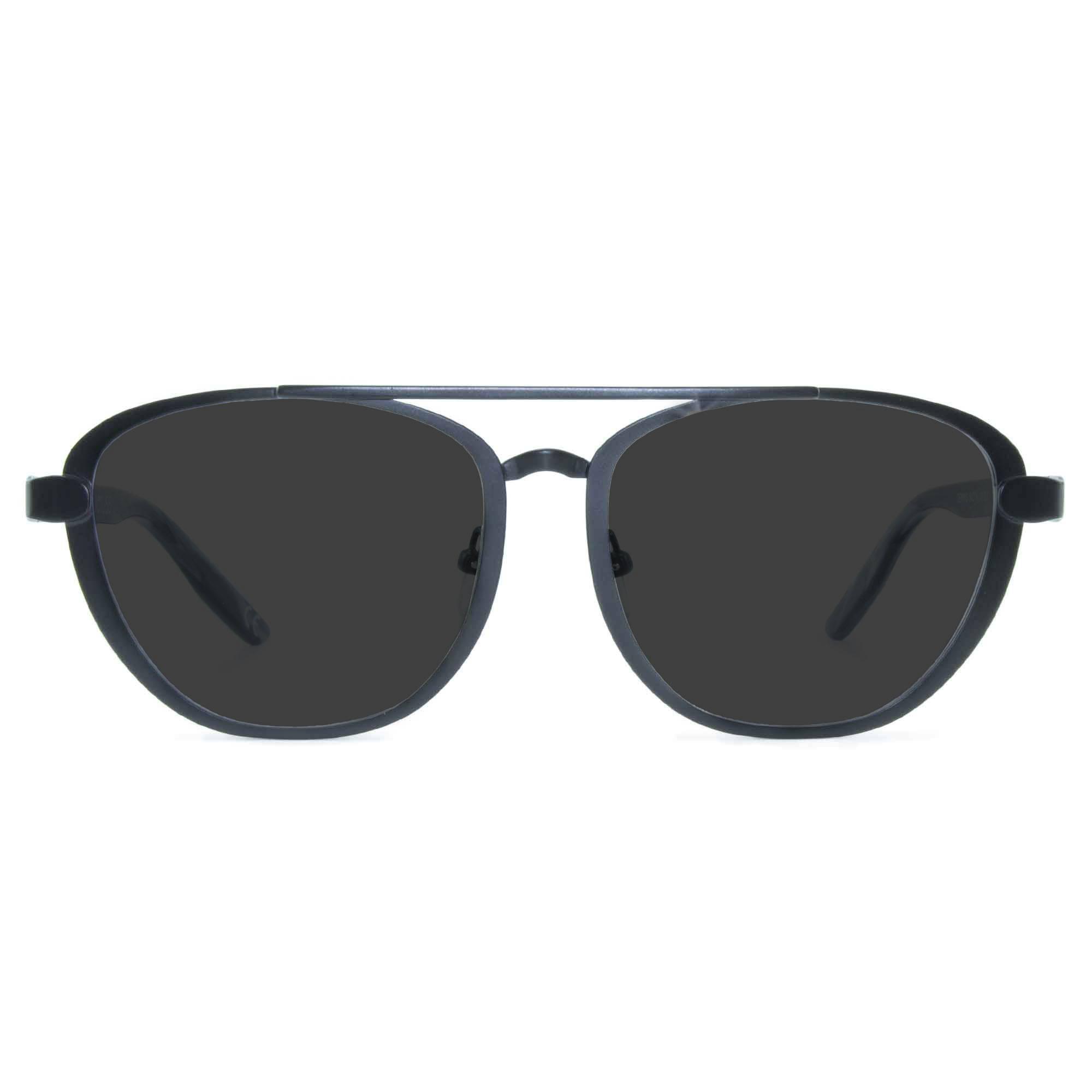 Joiuss dennis black aviator sunglasses