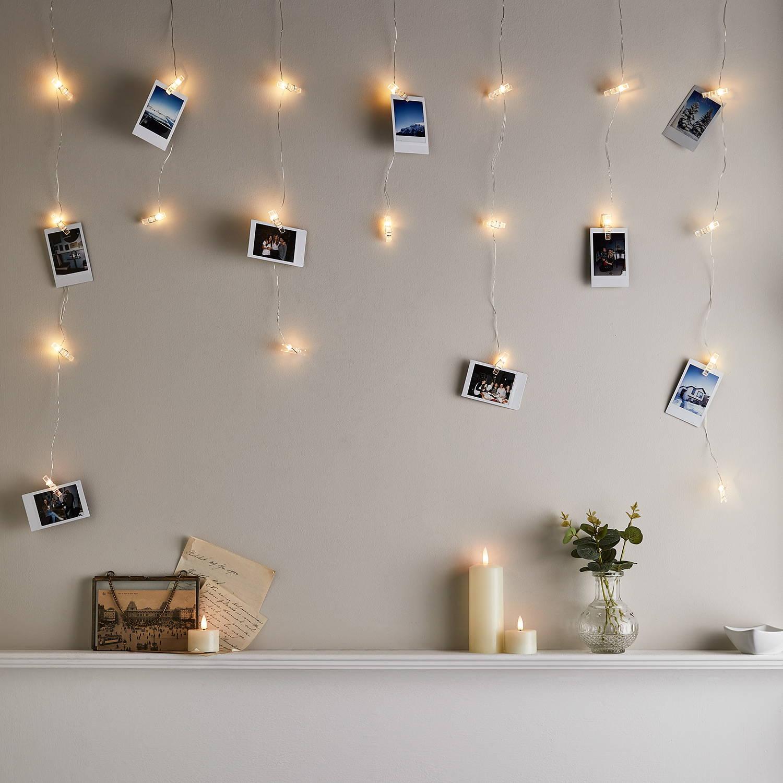 Bedroom wall photo wall