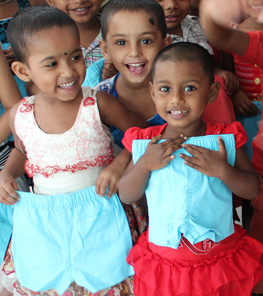 Every time you buy any item, we donate a pair of shorts to a child in need.