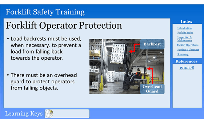 Forklift Operator Protection