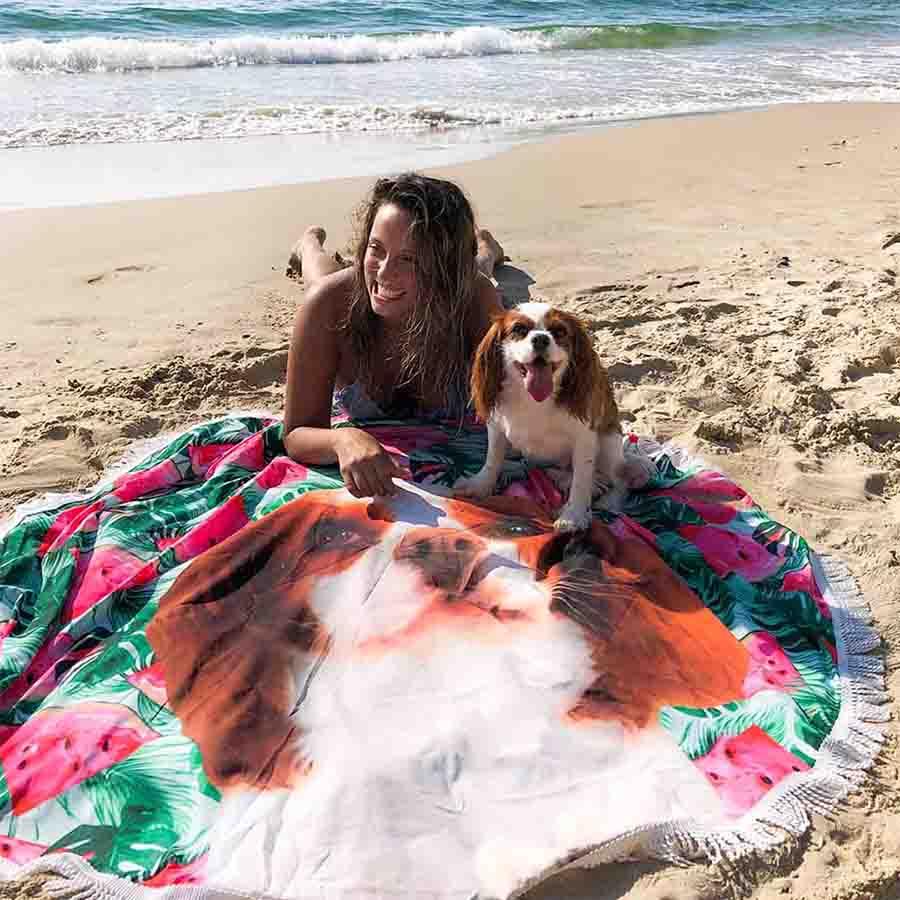 Cavalier_king_charles_spaniel_beach_mat
