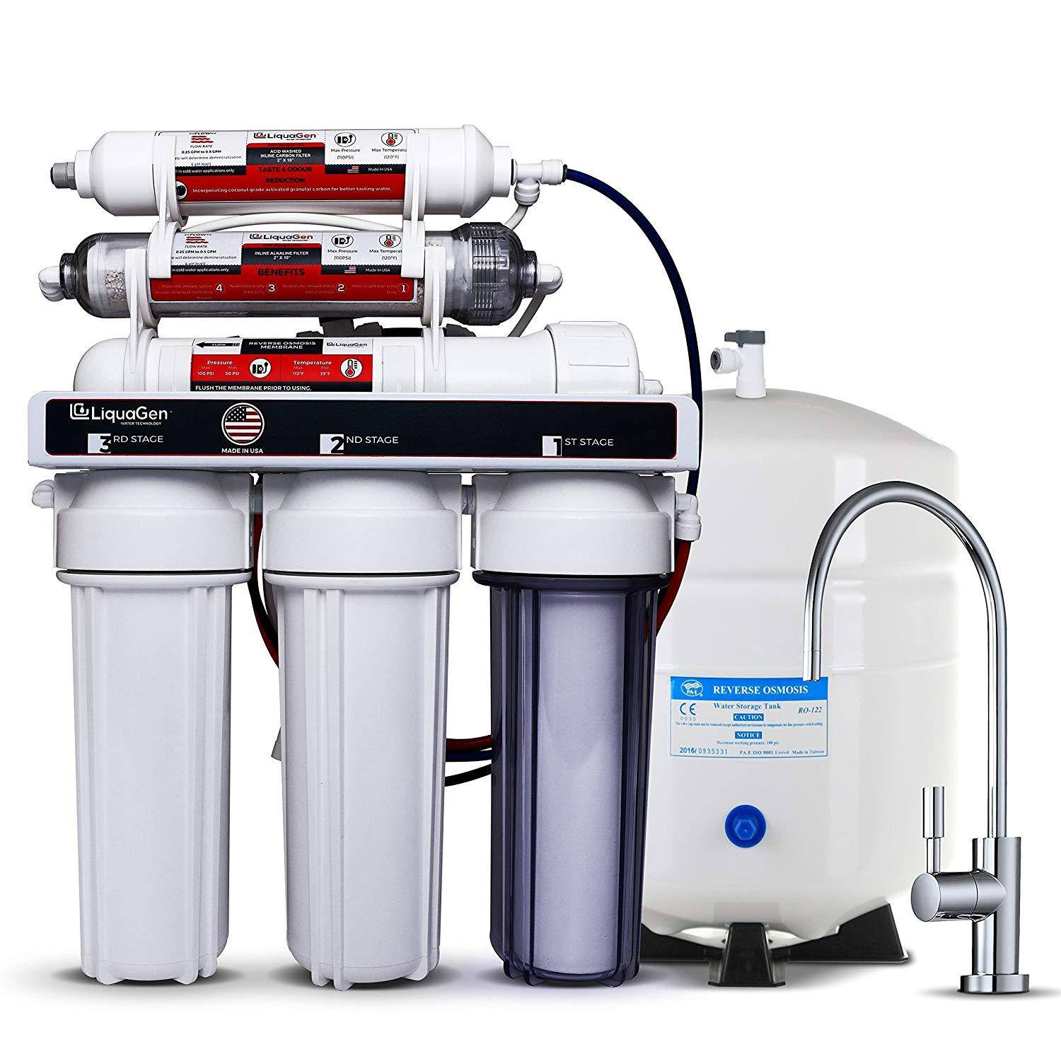 6 stage under sink ro systems